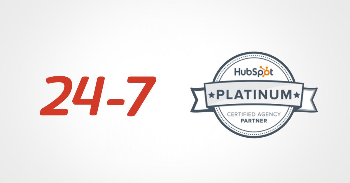 インバウンドマーケティング事業を推進する株式会社24-7米HubSpot社が認定するプラチナパートナーに昇格しました